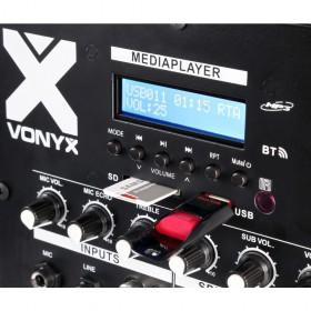 Vonyx VX1000BT Actieve speaker kit 2.2 170.104 bediening