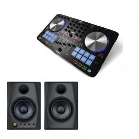 Reloop Beatmix 4 MK2 - Dj controller en Speakers (set)