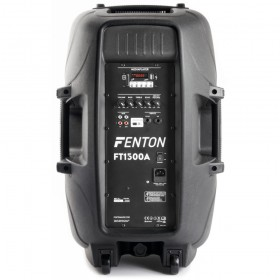 Fenton FT1500A Actieve speaker 15'' MP3/BT/LED achter