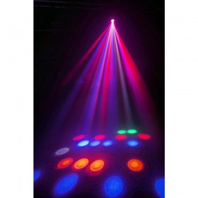 Beamz Pro Cub4 II - 2x10W Quad LED+64 RGB LED DMX display