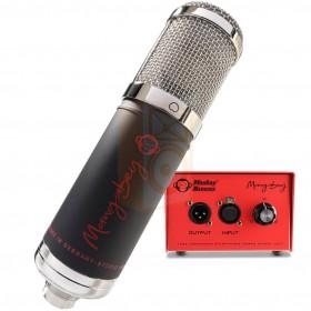 Monkey Banana Mangabey – Tube Condensator Mircofoon (ZWART) microfoon en tube versterker