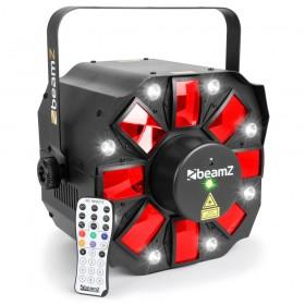BeamZ Multi Acis III - LED's met Laser en Strobe