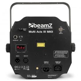 BeamZ Multi Acis III - LED's met Laser en Strobe aansluitingen, achterkant