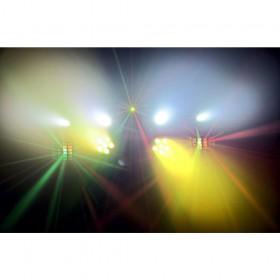 Verhuur ShowBar 2x PAR 6x 4in1 2xButterfly, Laser R/G DMX IRC 1 voordelig huren licht effect 1