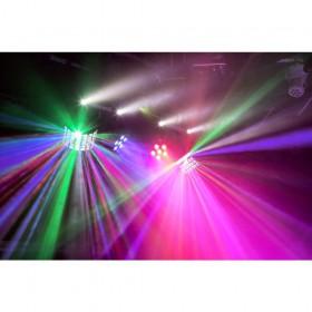 Verhuur ShowBar 2x PAR 6x 4in1 2xButterfly, Laser R/G DMX IRC 1 voordelig huren licht effect 4 met stroboscoop