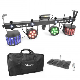 BeamZ ShowBar - 2x PAR 6x 4in1 2xButterfly, Laser R/G DMX IRC (Opruiming Actie)