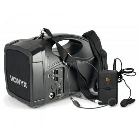 Vonyx ST012 - Personal PA Draadloos Systeem met UHF headset microfoon, USB en Bluetooth