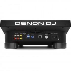 Achterkant aansluitingen Denon DJ SC5000M Prime Pro media speler met meedraaiende jogwheel