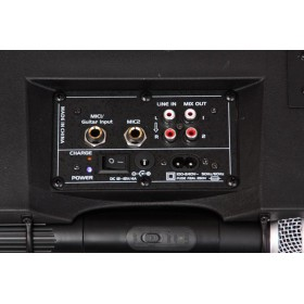 Ibiza Sound Port85UHF-BT - Draagbare Geluidsset met USB/MP3/SD, Bluetooth & 2 VHF Microfoons