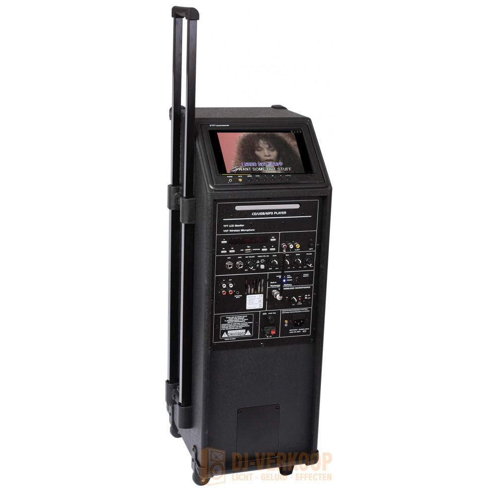 IBIZA Sound PORT9DVD-VHF mobiele muziek installatie met o.a. dvd en TV Scherm (Actie!)