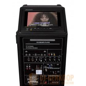 IBIZA Sound PORT9DVD-VHF mobiele muziek installatie met o.a. dvd en TV Scherm - tft en bediening paneel