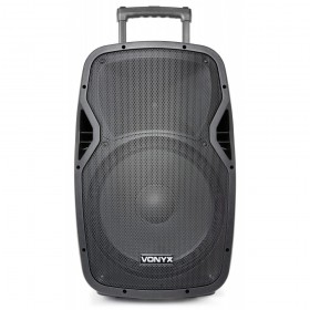 "Vonyx AP1500PA - Mobiele Geluidsinstallatie 15"" 2 UHF MP3 BT HS - DJ-Verkoop.nl"