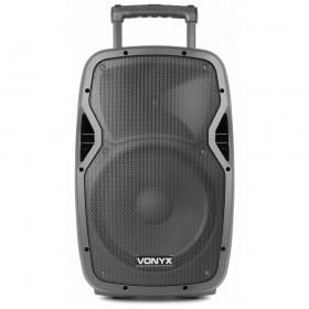 "Vonyx AP1200PA - Mobiele Geluidsinstallatie 12"" 2 UHF MP3 BT HS - dj-verkoop.nl"