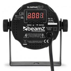 BeamZ SlimPar 30 6x3w RGB Led Spot met IRC - achterkant