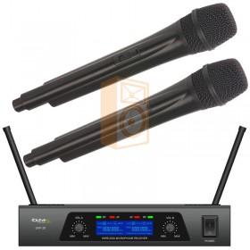 IBIZA Sound UHF20 - 2-Kanaals UHF Microfoonsysteem set - DJ-Verkoop.nl