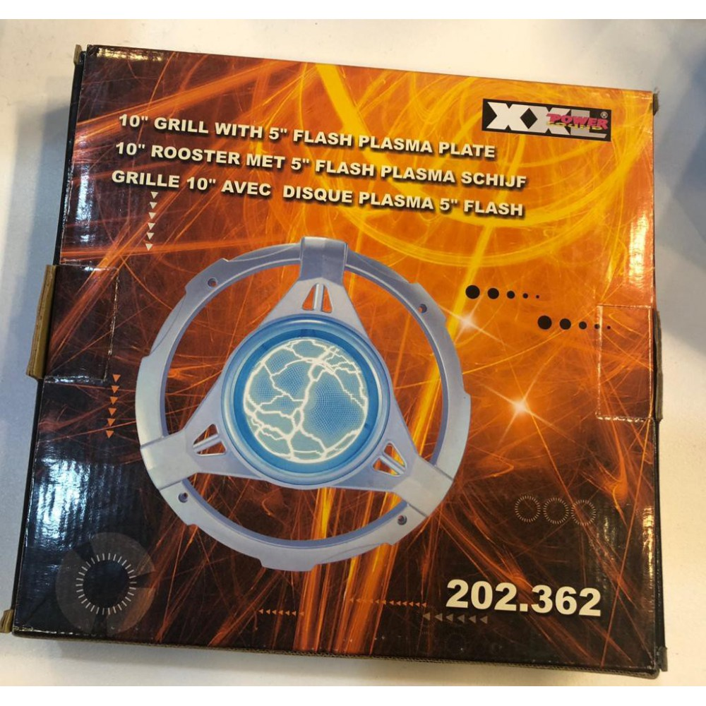 10 inch speaker grill met 5inch flash plasma schijf