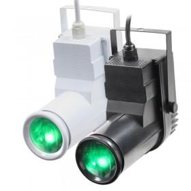 EQUINOX - 12W quad-colour Pinspot zwart / wit