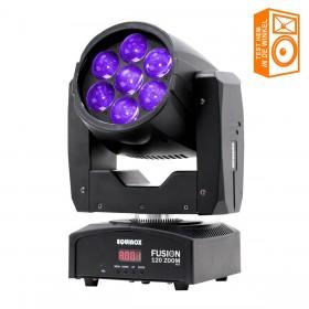 kom hem bekijken in de winkel Equinox Fusion 120 Zoom - 7x12W RGBW Wash en Beam movinghead in één