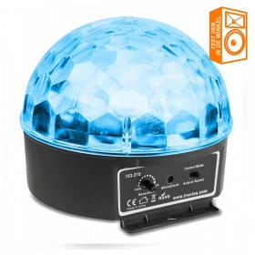 BeamZ Mini Star Ball Sound RGBAW LED 6x3W showmodel in de winkel te testen en bekijken