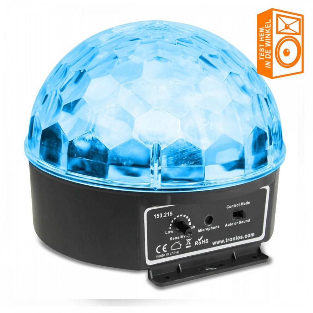 BeamZ Mini Star Ball Sound RGBAW LED 6x3W showmodel in de winkel te testen en bekijken