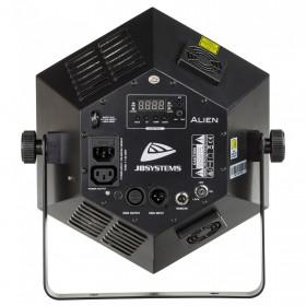 JB Systems Alien 5-in-1 LED-effect Projector Verlichting achterkant / aansluitingen