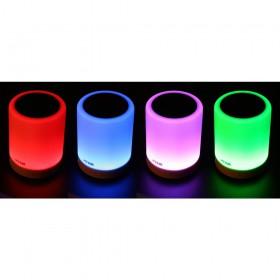 Max MX6 Touch Lamp met Speaker en BT streaming - aan multi color