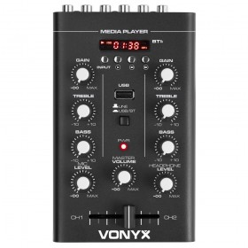 Bovenaanzicht mixer Vonyx STM500BT - 2-Kanaals Mixer USB/MP3/Bluetooth