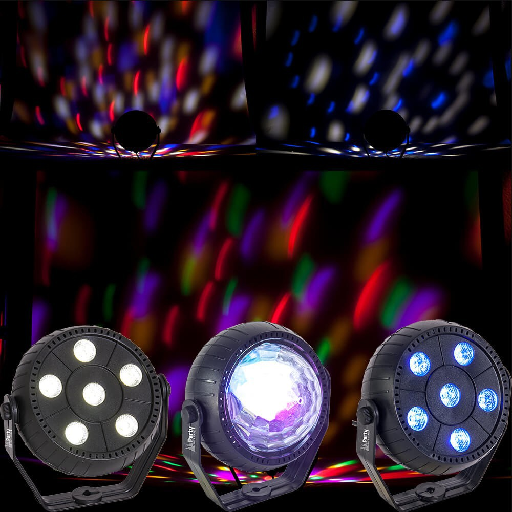 Party Light & Sound TRIFX - Set van 3 Mini LED Licht effecten