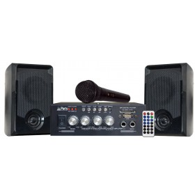 Party KA100 Karaoke Set met USB-SD en Bluetooth - compleet