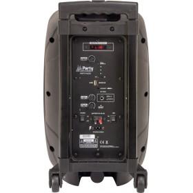 Party-8LED DRAAGBARE LUIDSPREKER 8 Inch - 300W MET USB, BLUETOOTH, FM en MICROFOON - Aansluitingen