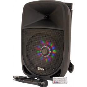 Party-8LED DRAAGBARE LUIDSPREKER 8 Inch - 300W MET USB, BLUETOOTH, FM en MICROFOON - Met microfoon en afstand bediening