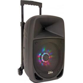Party-8LED DRAAGBARE LUIDSPREKER 8 Inch - 300W MET USB, BLUETOOTH, FM en MICROFOON - speaker met trolly