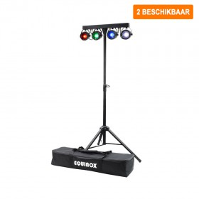 Verhuur Equinox Microbar COB Systeem 2 stuks te huur een wash led bar met 4x 20W tri-color LED