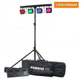 Verhuur Equinox Gigabar MKII Systeem 2 stuks te huur een spot/wash led bar met 4x 30W tri-color LED