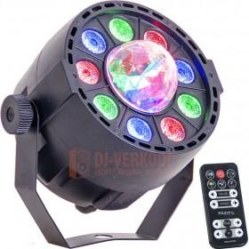 Ibiza Light PAR-ASTRO 2-IN-1 Licht Effect LED Par + Astro met IR afstandsbedining