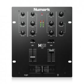 Numark M101USB 2 kanaals USB mixer / mengpaneel bovenkant bediening