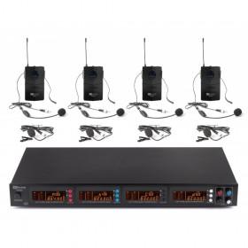 Power Dynamics PD504B - 4x 50-Kanaals UHF microfoonset met 4 beltpack microfoons - Hoofdafbeelding