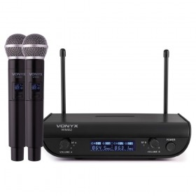 Vonyx WM82 - Digitaal UHF 2-Kanaals Draadloos Microfoonsysteem met 2 handmicrofoons - hoofdafbeelding