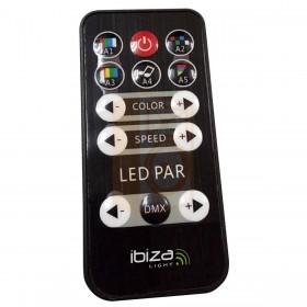 Ibiza Light Par can 12x3W 3-in-1 RGB LED - afstandsbediening