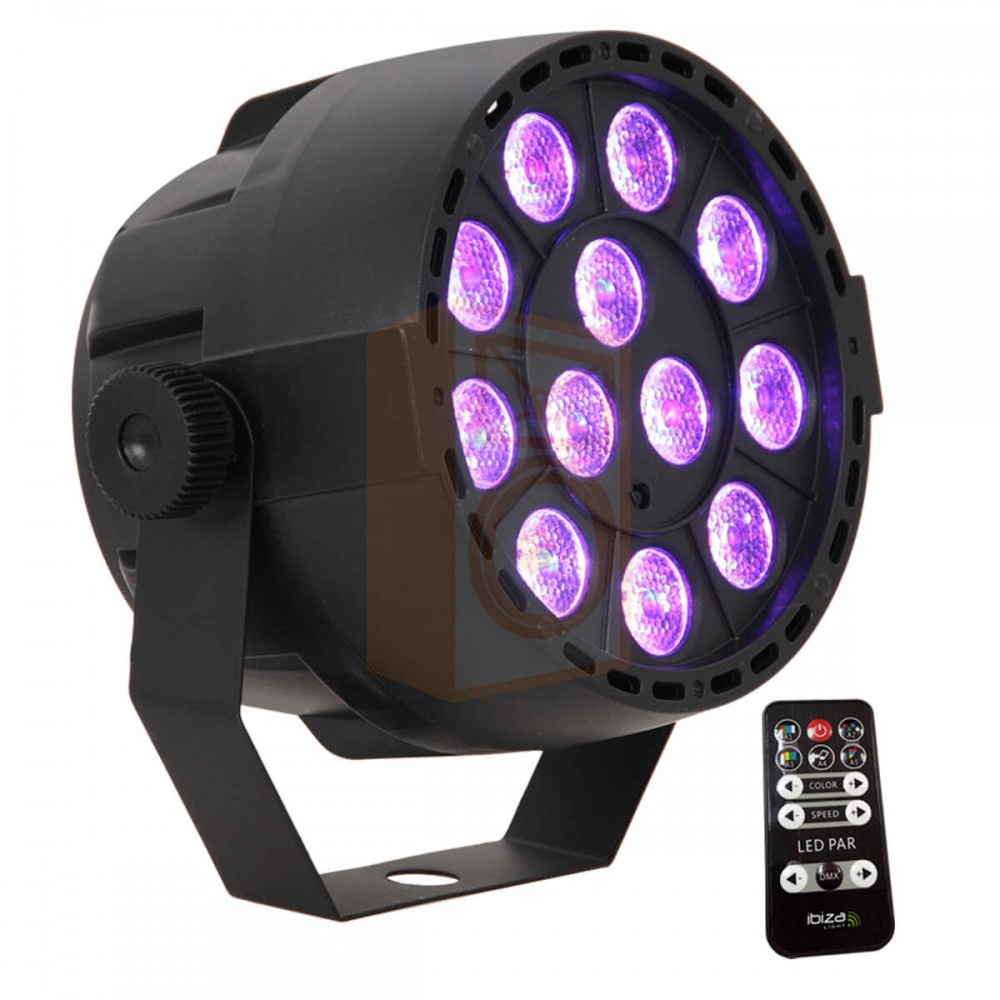 Ibiza Light Par can 12x3W 3-in-1 RGB LED - overzicht