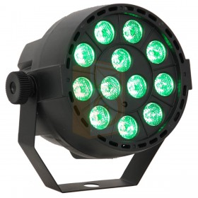 Ibiza Light PAR-MINI-RGB3 12x3W 3-in-1 RGB LED Par met Afstandsbediening en DMX - aan groen