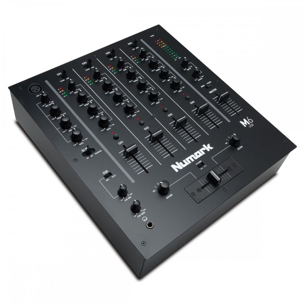 Numark M6 USB 4 Kanaals USB DJ club Mixer mk2