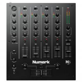 Numark M6 USB 4 Kanaals USB DJ club Mixer mk2 bovenkant bediening