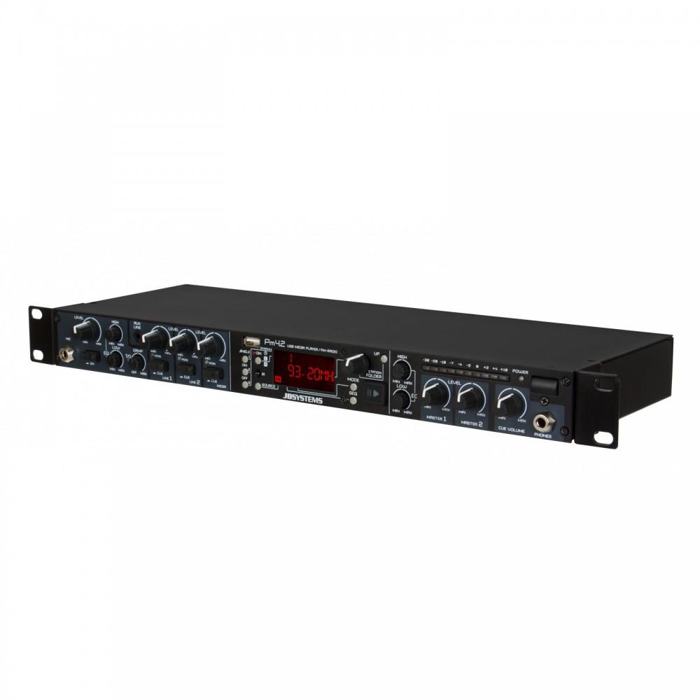JB Systems PM4.2 MEDIAMIX Alles in één mediaspeler usb, fm radio, cd speler display