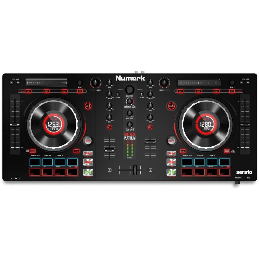 Numark Mixtrack Platinum DJ Controller met display bovenkant