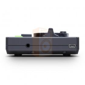 Numark Dj2Go2 Compacte DJ Controller met Serato DJ - zijkant rechts aansluiting usb en hoofdtelefoon