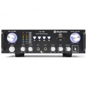 Skytronic AV-100 Stereo Karaoke versterker MP3 voorkant