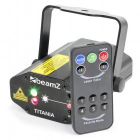 BeamZ Titania - Dubbele Laser 200mW RG Gobo met afstandsbediening