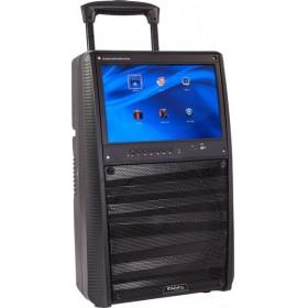 """Ibiza Sound  PORT-TFT12 - Mobiel oplaadbaar karaoke systeem met 15"""" TFT kleurenmonitor - het menu"""