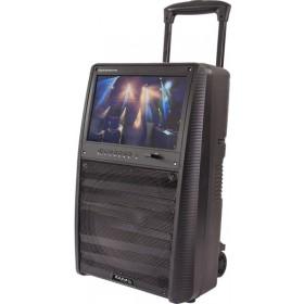 """Ibiza Sound  PORT-TFT12 - Mobiel oplaadbaar karaoke systeem met 15"""" TFT kleurenmonitor - speaker"""